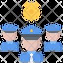 Policeman Group Team Icon