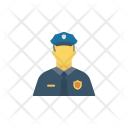 Policeman Security Man Icon