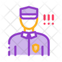 Policeman Control Security Icon