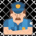 Policeman Guard Jobs Icon