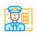 Policeman Worker Color Icon