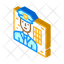 Policeman Worker Male Icon