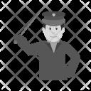 Policeman Holding Stick Icon
