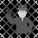 Policeman holding gun Icon