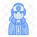 Winter Avatar User Profile People Policewoman Icon