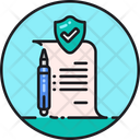 Policy Contract Regulation Icon