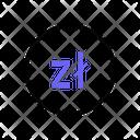 Polish Zloty Currency Money Icon