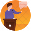 Public Speaking Political Speech Candidate Speech Icon