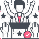 Political Victory Winner Victory Icon