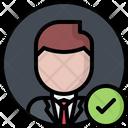 Politician Candidate Check Icon