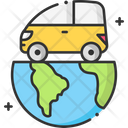 A Earth Car Vechicle Icon