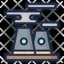 Pollution Acid Rain Nuclear Icon