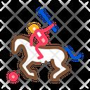 Equestrian Polo Animal Icon