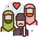 Polygamy Husband Wives Icon