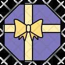 Polygon Gift Present Icon