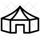 Polygonal Tent Icon