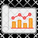 Polyline Chart Polyline Graph Data Analysis Icon