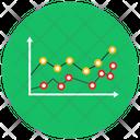 Polyline Graph Polyline Chart Data Analytics Icon