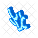 Polyps Coral Isometric Icon
