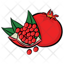 Pomegranate Fruit Spherical Fruit Icon