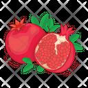 Pomegranate Fruit Fresh Icon