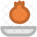 Pomegranate Spherical Fruit Icon