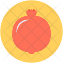 Pomegranate Fruit Spherical Icon
