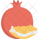 Pomegranate Food Healthy Icon