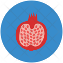 Pomegranate Spherical Reddish Icon
