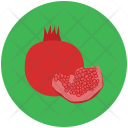 Pomegranate Spherical Healthy Icon
