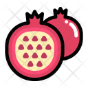 Half Pomegranate Fruit Icon
