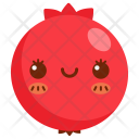 Pomegranate Fruit Face Icon