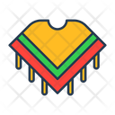Poncho Mexican Clothing Clothes Icon
