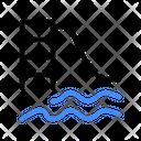 Pool Slides Swim Sport Icon