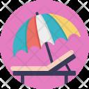 Beach Umbrella Chair Icon