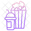 Pop Corn Drink Icon