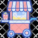Pop Corn Stall Pop Corn Cart Por Corn Shop Icon