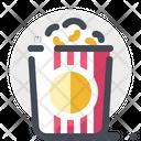 Popcorn Theater Cinema Icon