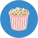 Popcorn Box Popping Icon