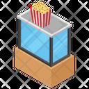 Popcorn Snacks Corn Kernels Icon