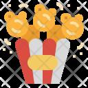 Popcorn Snack Cinema Icon