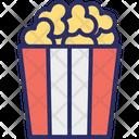 Cinema Refreshment Popcorn Popping Corn Icon