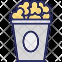 Popcorn Popping Corn Refreshment Icon