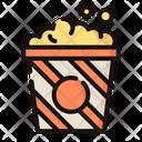 Popcorn Cinema Popcorn Snacks Icon