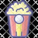 Popcorn Cinema Snacks Junk Food Icon