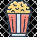 Popcorn Corn Crunchy Icon