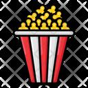 Popcorn Bucket Cinema Snacks Popcorn Icon
