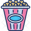 Pop Corn Junk Food Icon