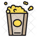 Popcorn Snack Movie Icon