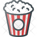 Popcorn Movie Snack Icon